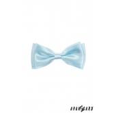 Motýlek chlapecký světle modrá lesk - 10 cm