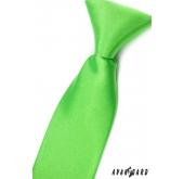 Chlapecká kravata zelená s leskem - délka 44 cm