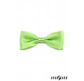 Jednobarevný motýlek světle zelený - 12,5 cm