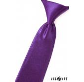 Chlapecká kravata - Fialová lesk - délka 31 cm