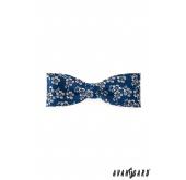 Pánský motýlek KLASIK květovaný - Modrá - 10 cm