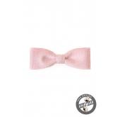 Růžový pánský motýlek jemné proužky - 10 cm