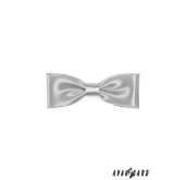 Pánský motýlek KLASIK - Stříbrná - 10 cm
