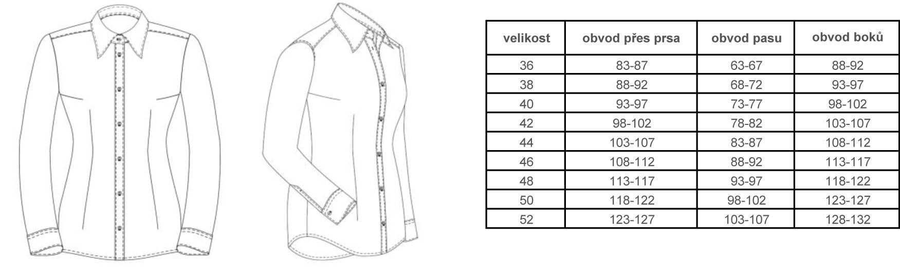 Bílá dámská košile na manžetové knoflíčky - Galamodino.cz 297ec18894